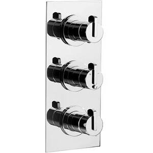 Matt Black Chrome Trim set for V132-AIS thermostatic valve - 2 way diverter with volume control for 3rd outlet