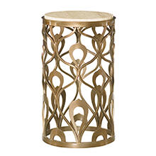 Bob Mackie Round End Table