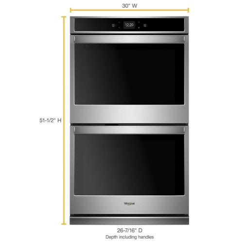 Whirlpool - 10.0 cu. ft. Smart Double Wall Oven with Touchscreen