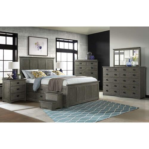Oak Park Captains Bed  Pewter