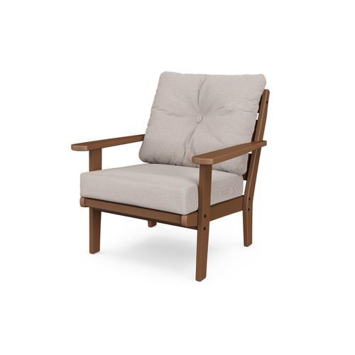 Teak & Dune Burlap Lakeside Deep Seating Chair
