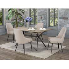 See Details - 5-piece Dining Set - Beige