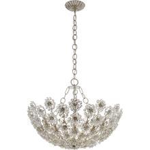 AERIN Claret 12 Light 28 inch Burnished Silver Leaf Chandelier Ceiling Light, Short