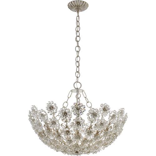 Visual Comfort - AERIN Claret 12 Light 28 inch Burnished Silver Leaf Chandelier Ceiling Light, Short