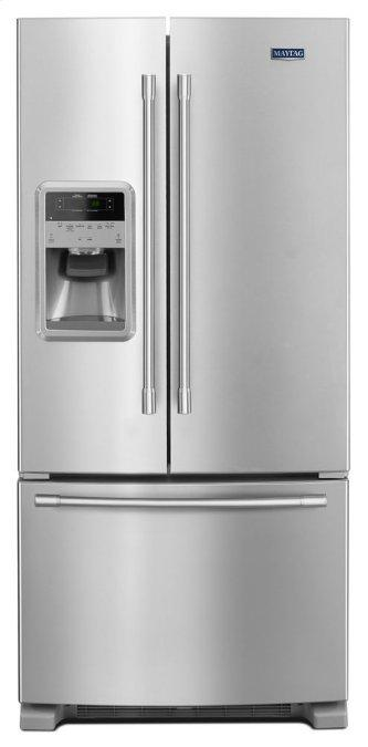 Maytag™ 33- Inch Wide French Door Refrigerator with Beverage Chiller™ Compartment - 22 Cu. Ft.