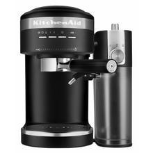 See Details - Semi-Automatic Espresso Machine and Automatic Milk Frother Attachment - Black Matte