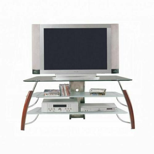 ACME Martini TV Stand - 02730 - Brown Cherry & Chrome