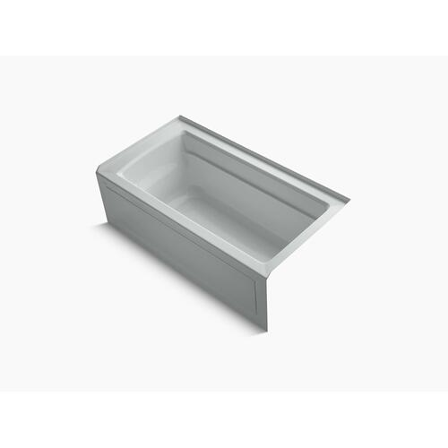 "Ice Grey 60"" X 32"" Alcove Bath With Bask Heated Surface, Integral Apron, Integral Flange, and Right-hand Drain"