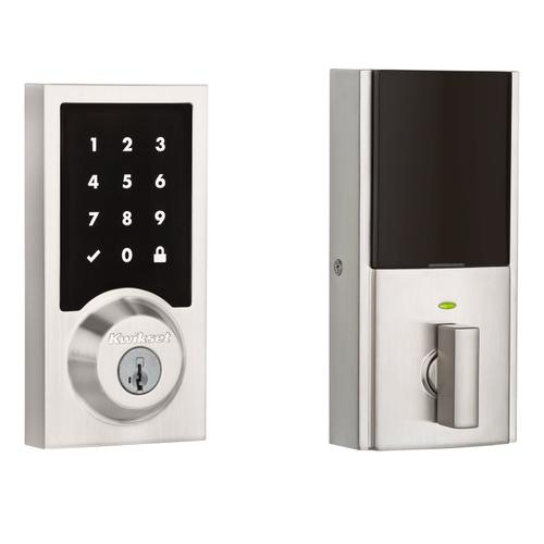 Kwikset - 916 Smartcode Contemporary Electronic Deadbolt with Z-Wave Technology - Satin Nickel