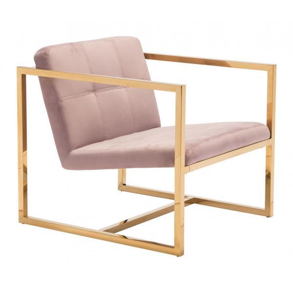 Alt Arm Chair Pink & Gold
