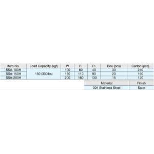 Ssa Angle Bracket 304ss, 7-7/8