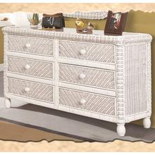 Santa Cruz 6-Drawer Dresser - White Finish