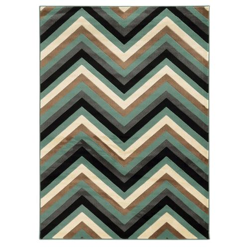Roma Chevron Turq/grey 2x3