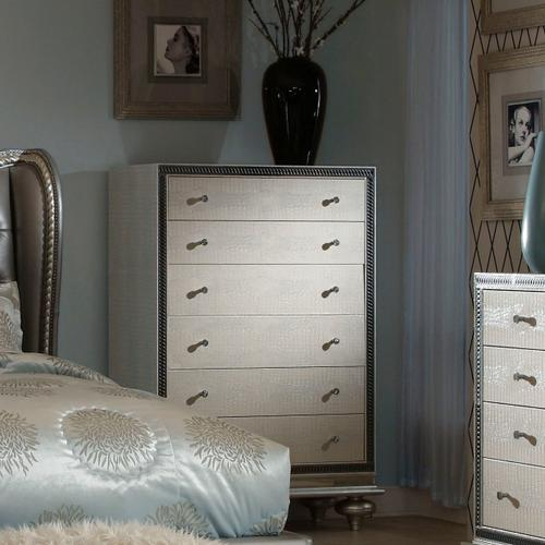 Amini - Upholstered Vertical Storage Cabinets-chest of Drawers