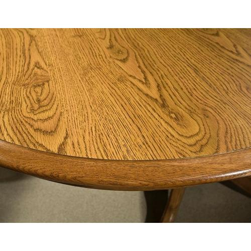 Classic Oak Chestnut Laminate Trestle Table
