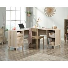 L-Shaped Home Office Desk with File Drawers