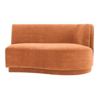 Yoon 2 Seat Sofa Right Rust