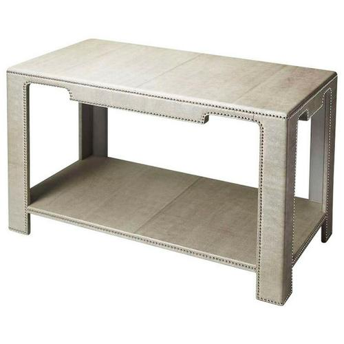 Butler Specialty Company - The clean lines, the luster of rich leather, and the multitude of shimmering silver finished nailheads all come together ensure this impeccably crafted Console Table will be a splendid addition to an already well-furnished room. Expertly crafted from wood solids and wood products.
