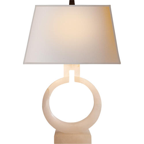 - E. F. Chapman Ring 21 inch 75.00 watt Alabaster Natural Stone Decorative Table Lamp Portable Light