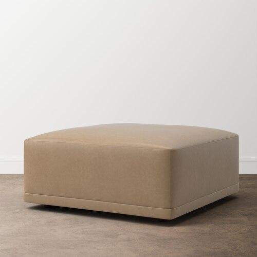 Knox Leather Ottoman