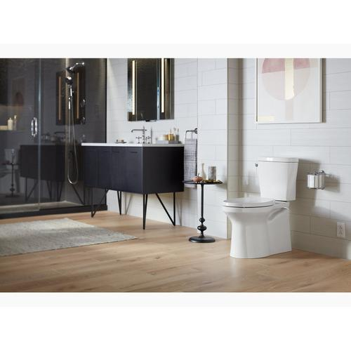 White Betello With Continuousclean Comfort Height Two-piece Elongated 1.28 Gpf Toilet With Continuousclean, Skirted Trapway, Revolution 360 Swirl Flushing Technology and Left-hand Trip Lever, Seat Not Included