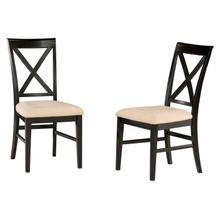 Product Image - Lexi Dining Chairs Set of 2 with Oatmeal Cushion in Espresso