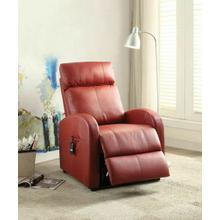 ACME Ricardo Recliner w/Power Lift - 59406 - Red PU