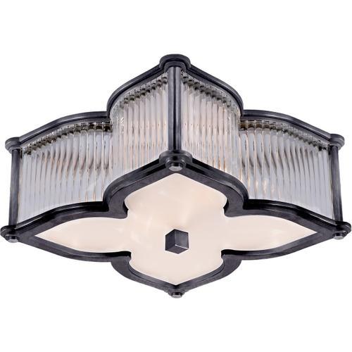 Alexa Hampton Lana 2 Light 15 inch Gun Metal Flush Mount Ceiling Light