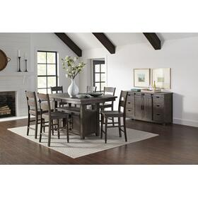 Madison County High/low Table & 4 Stools Barnwood