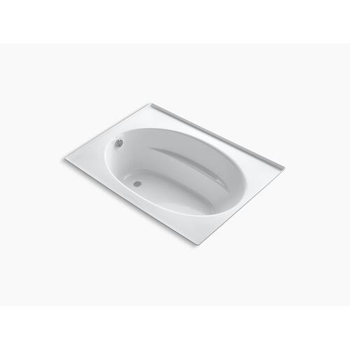 "White 60"" X 42"" Alcove Bath With Integral Flange and End Drain"