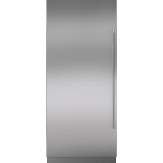 "Sub-Zero - Stainless Steel Door Panel with Tubular Handle and 4"" Toe Kick - LH"