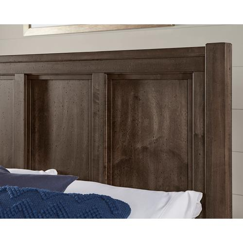 Panel Bed with Panel Footboard