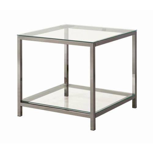 Coaster - Contemporary Black Nickel End Table