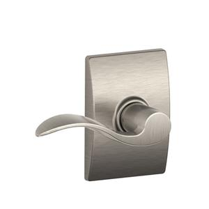 Accent Lever with Century trim Hall & Closet Lock - Satin Nickel Product Image