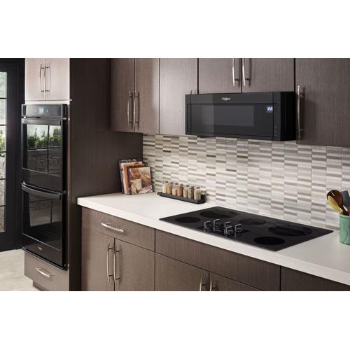 Whirlpool - 36-inch Electric Ceramic Glass Cooktop with Two Dual Radiant Elements Black