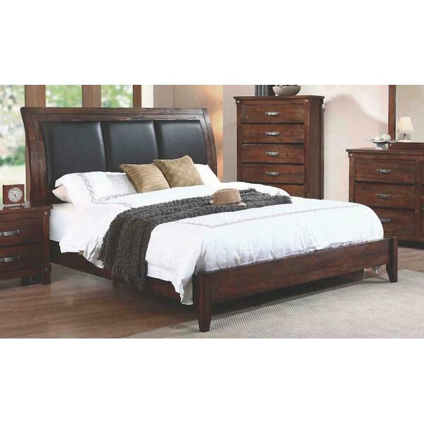 Noble Rustic Oak California King Panel Bed