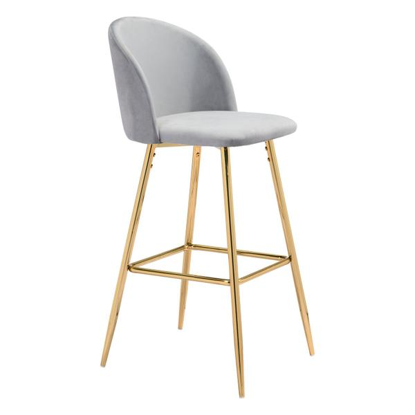 See Details - Cozy Bar Chair Gray