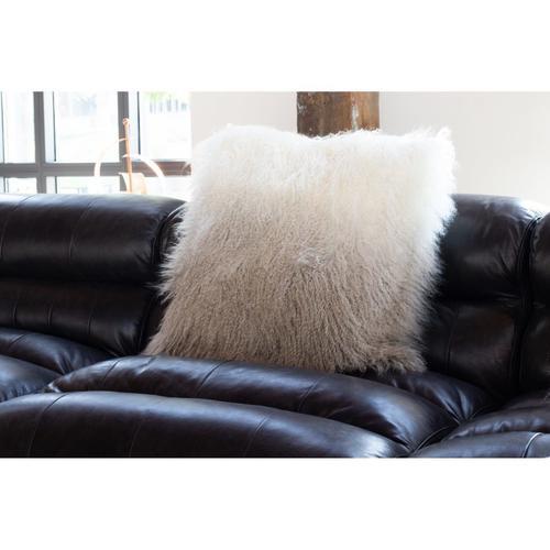 Moe's Home Collection - Lamb Fur Pillow Light Grey Spectrum