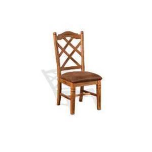Sedona Double Crossback Chair w/ Cushion Seat