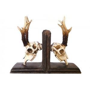 Deer Skulls Bookends Set