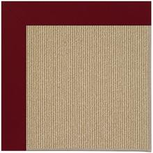Creative Concepts-Sisal Canvas Burgundy Machine Tufted Rugs