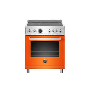 Bertazzoni30 inch Induction Range, 4 Heating Zones, Electric Self-Clean Oven Arancio