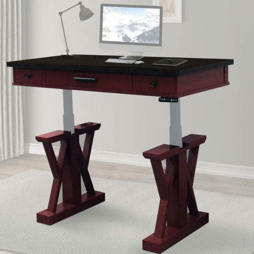 AMERICANA MODERN - CRANBERRY 56 in. Lift Desk Top & Base Cover