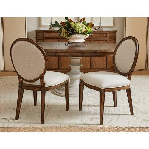 Stanley Furniture - Hillside Oval Side Chair - Chestnut