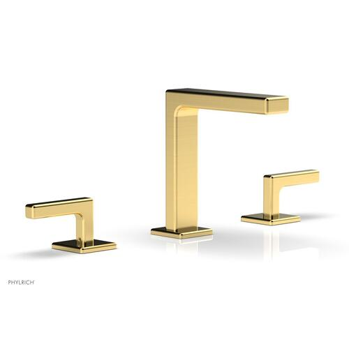 """MIX Widespread Faucet - Lever Handles 6-3/4"""" Height 290-02 - Satin Gold"""