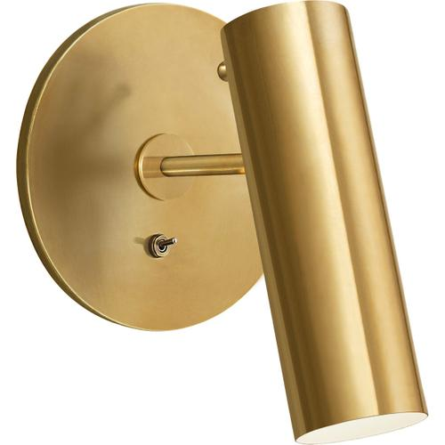 AERIN Lancelot LED 6 inch Hand-Rubbed Antique Brass Pivoting Wall Light