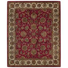 Regal-Persian Red Ivory Hand Tufted Rugs