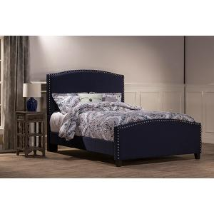 Kerstein Bed Set - Twin - Rails Included - Navy Linen