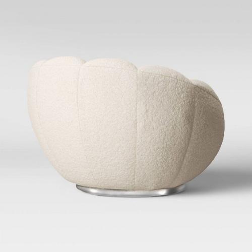 VIG Furniture - Modrest Dacano - White Sherpa Accent Chair