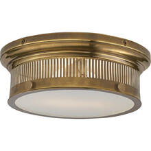 E. F. Chapman Alderly 2 Light 13 inch Antique Burnished Brass Flush Mount Ceiling Light in Antique-Burnished Brass